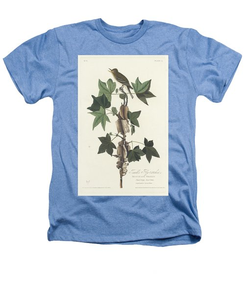 Traill's Flycatcher Heathers T-Shirt by John James Audubon