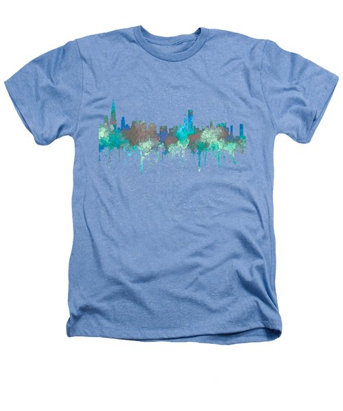Chicago Illinois Skyline Heathers T-Shirt by Marlene Watson