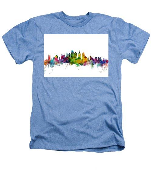 Philadelphia Pennsylvania Skyline Heathers T-Shirt by Michael Tompsett