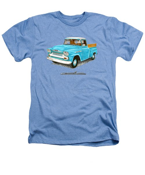 1958 Chevrolet Apache Pick Up Heathers T-Shirt by Jack Pumphrey