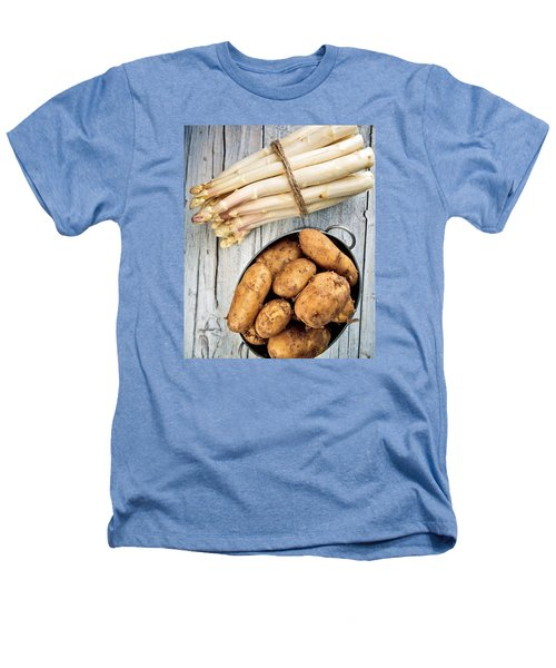 Asparagus Heathers T-Shirt by Nailia Schwarz