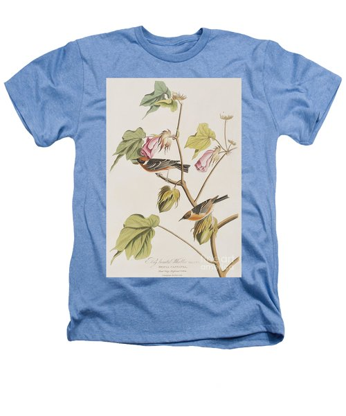 Bay Breasted Warbler Heathers T-Shirt by John James Audubon