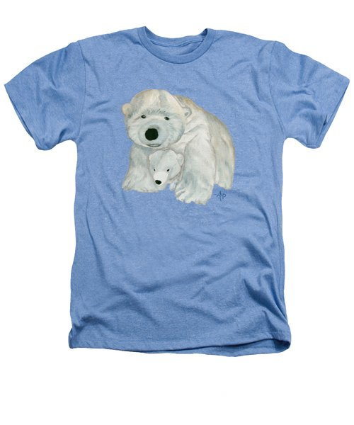 Cuddly Polar Bear Heathers T-Shirt by Angeles M Pomata