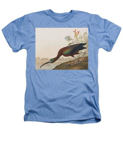 Glossy Ibis Heathers T-Shirt by John James Audubon