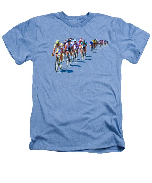 Philadelphia Bike Race Heathers T-Shirt by Bill Cannon