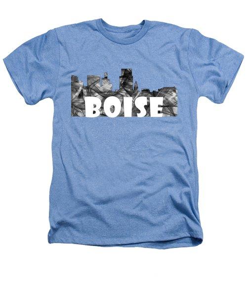 Boise Idaho Skyline Heathers T-Shirt by Marlene Watson