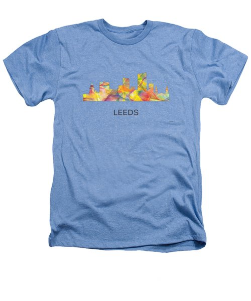 Leeds England Skyline Heathers T-Shirt by Marlene Watson