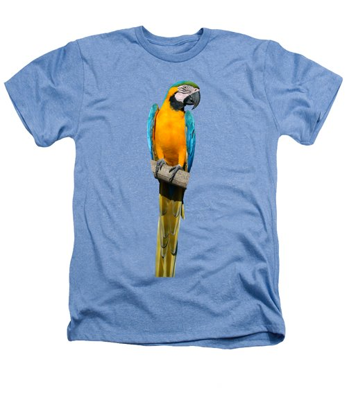 Blue And Gold Macaw Heathers T-Shirt by George Atsametakis