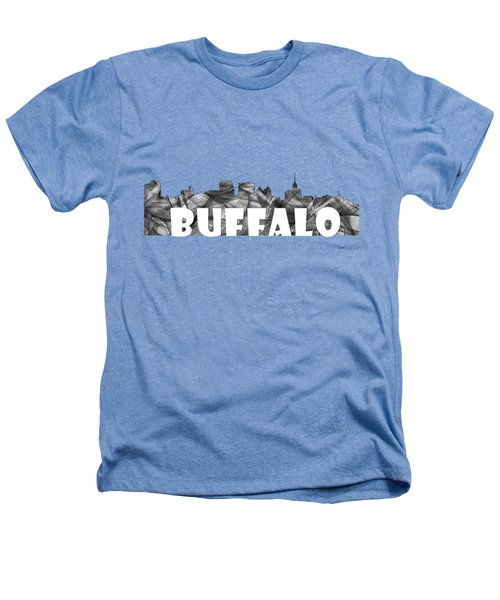 Buffalo New York Skyline Heathers T-Shirt by Marlene Watson