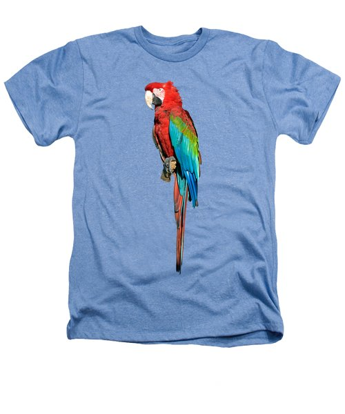 Red And Green Macaw Heathers T-Shirt by George Atsametakis