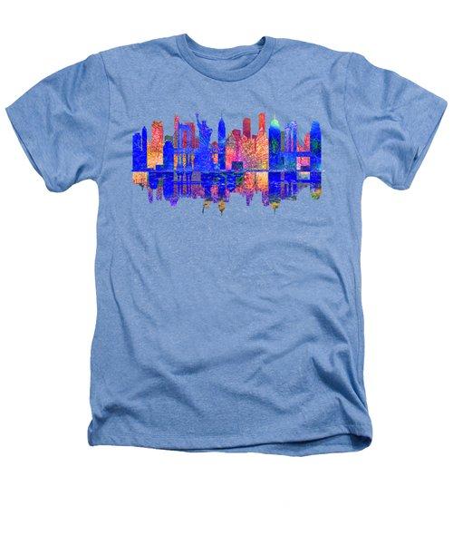 New York Skyline Heathers T-Shirt by John Groves