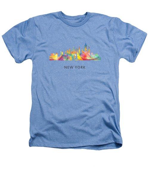 New York Skyline Heathers T-Shirt by Marlene Watson