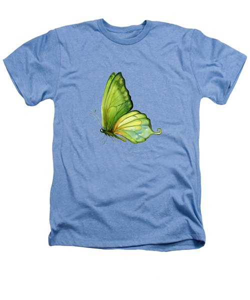 5 Sap Green Butterfly Heathers T-Shirt by Amy Kirkpatrick