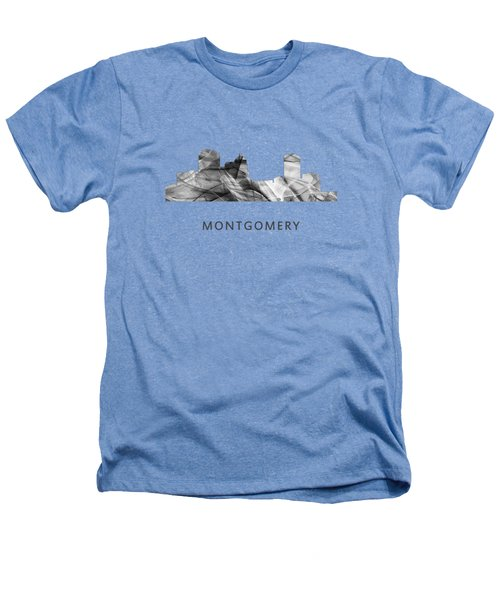 Montgomery Alabama Skyline Heathers T-Shirt by Marlene Watson