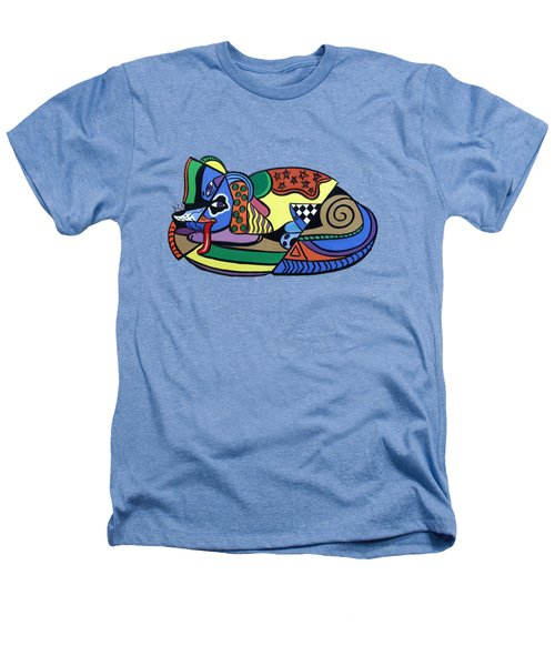A Dog Named Picasso T-shirt Heathers T-Shirt by Anthony Falbo