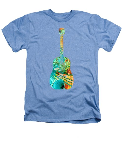 Acoustic Guitar 2 - Colorful Abstract Musical Instrument Heathers T-Shirt by Sharon Cummings