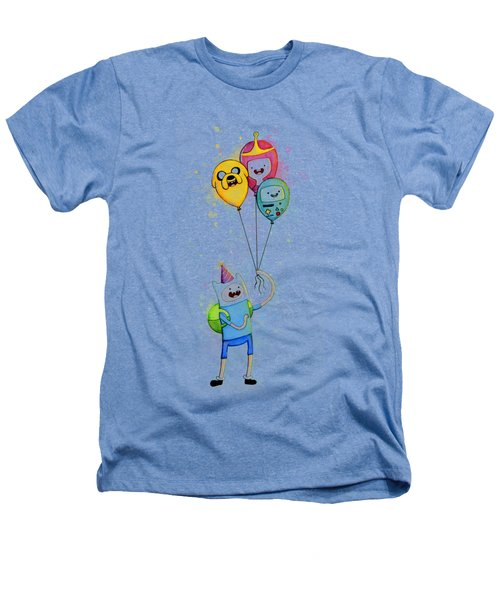 Adventure Time Finn With Birthday Balloons Jake Princess Bubblegum Bmo Heathers T-Shirt by Olga Shvartsur