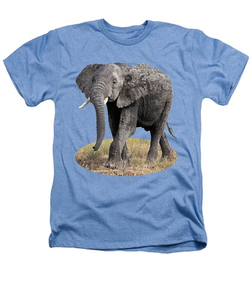 African Elephant Happy And Free Heathers T-Shirt by Gill Billington