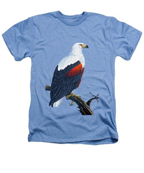 African Fish Eagle Heathers T-Shirt by Anthony Mwangi