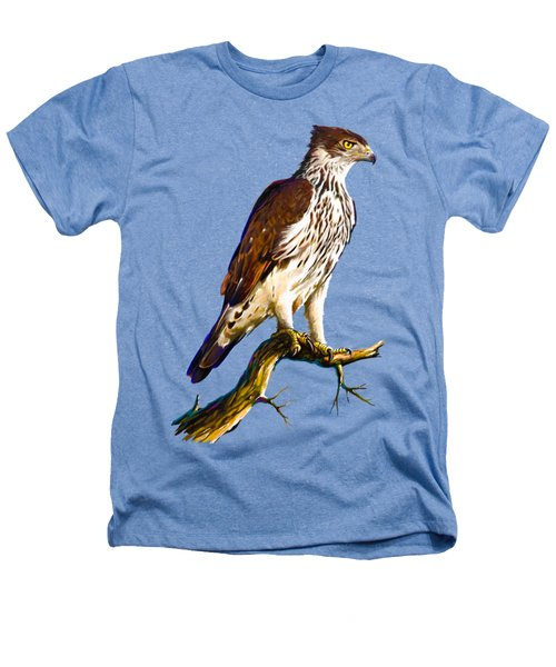 African Hawk Eagle Heathers T-Shirt by Anthony Mwangi