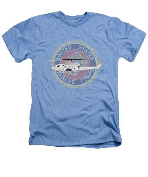 Ah-1z Viper Usmc Heathers T-Shirt by Arthur Eggers