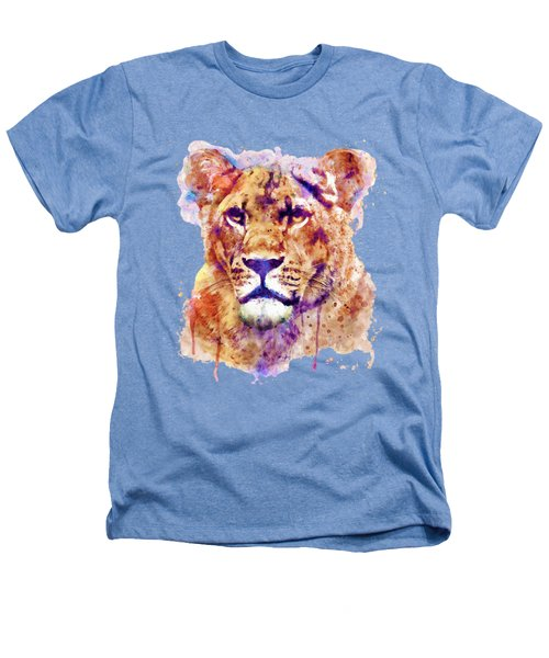Lioness Head Heathers T-Shirt by Marian Voicu