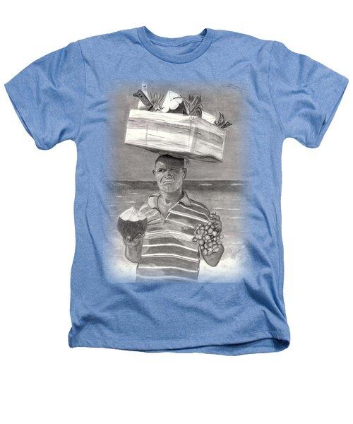 Island Street Vendor Heathers T-Shirt by Tom Podsednik