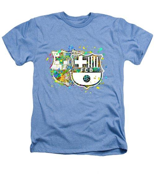 Tribute To F C Barcelona 7 Heathers T-Shirt by Alberto RuiZ