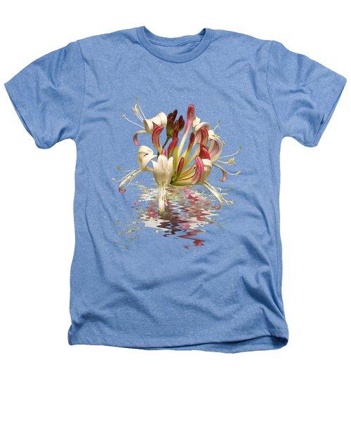 Honeysuckle Reflections Heathers T-Shirt by Gill Billington