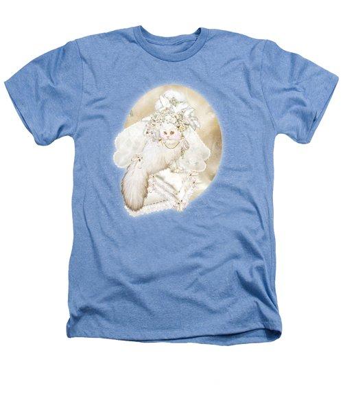 Cat In Fancy Bridal Hat Heathers T-Shirt by Carol Cavalaris