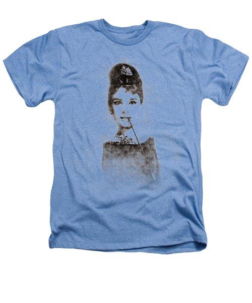 Audrey Hepburn Portrait 01 Heathers T-Shirt by Pablo Romero