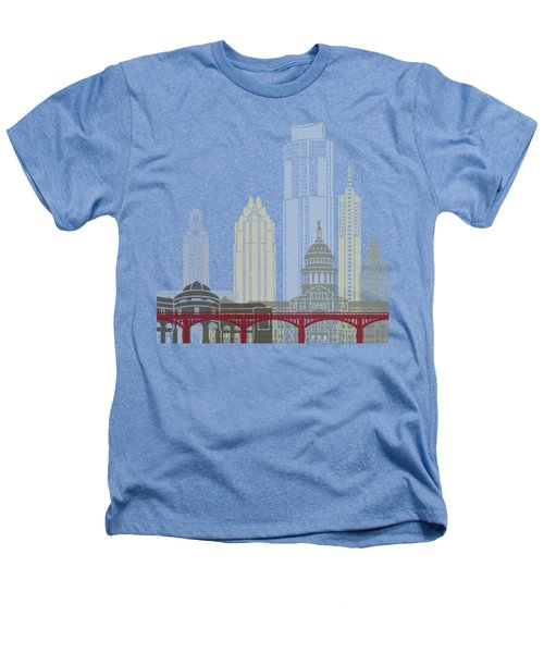 Austin Skyline Poster Heathers T-Shirt by Pablo Romero