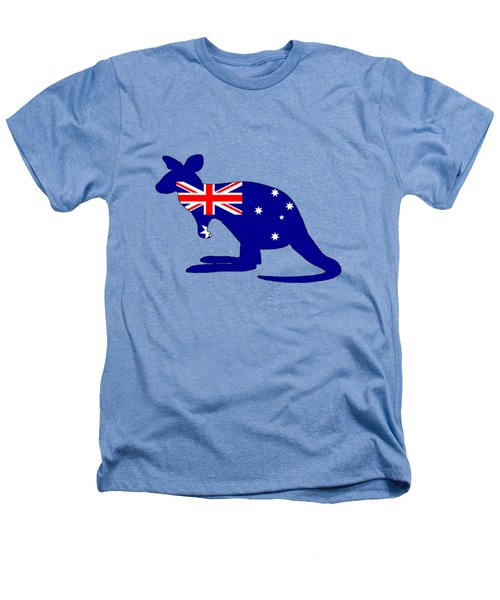 Australian Flag - Kangaroo Heathers T-Shirt by Mordax Furittus