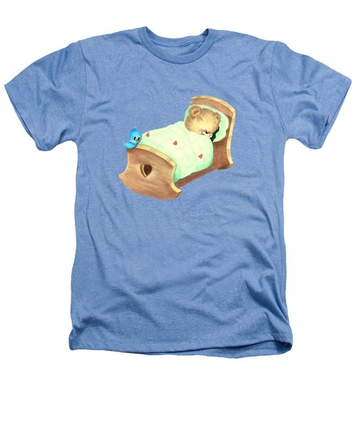 Baby Teddy Sweet Dreams Heathers T-Shirt by Linda Lindall