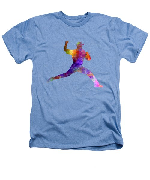 Baseball Player Throwing A Ball 01 Heathers T-Shirt by Pablo Romero