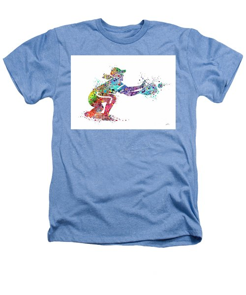 Baseball Softball Catcher 2 Sports Art Print Heathers T-Shirt by Svetla Tancheva