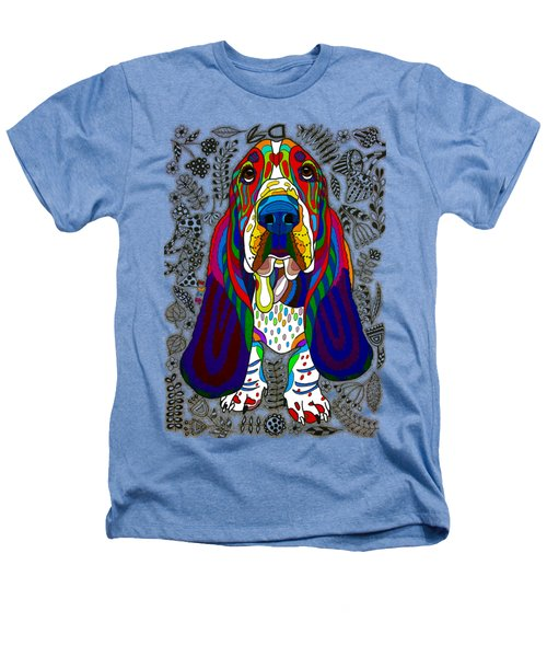 Basset Hound Heathers T-Shirt by Pet Coloring Pages