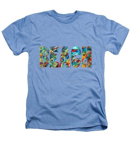Beach Art - Beachy Keen - By Sharon Cummings Heathers T-Shirt by Sharon Cummings