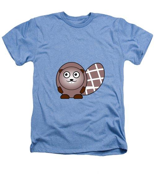 Beaver - Animals - Art For Kids Heathers T-Shirt by Anastasiya Malakhova