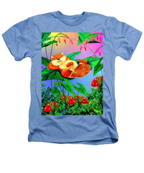 Beaver Bedtime Heathers T-Shirt by Hanne Lore Koehler