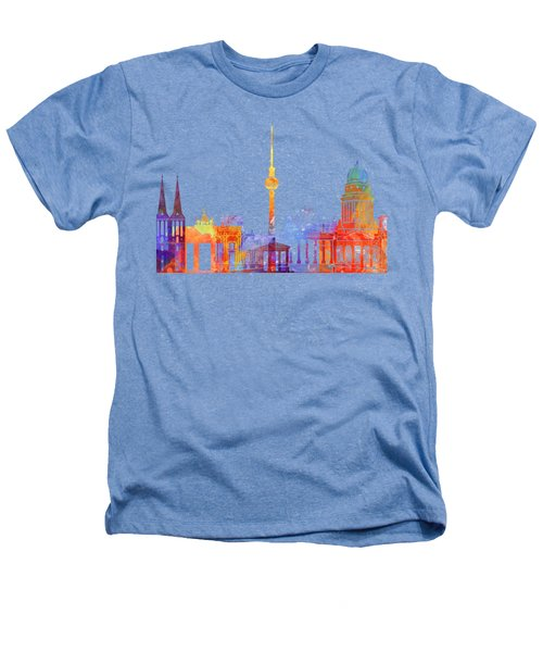 Berlin Landmarks Watercolor Poster Heathers T-Shirt by Pablo Romero