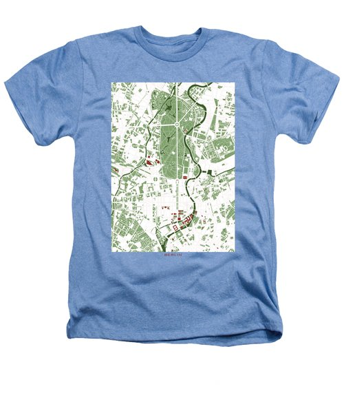 Berlin Minimal Map Heathers T-Shirt by Jasone Ayerbe- Javier R Recco