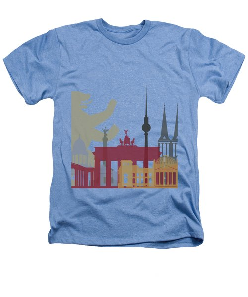 Berlin Skyline Poster Heathers T-Shirt by Pablo Romero