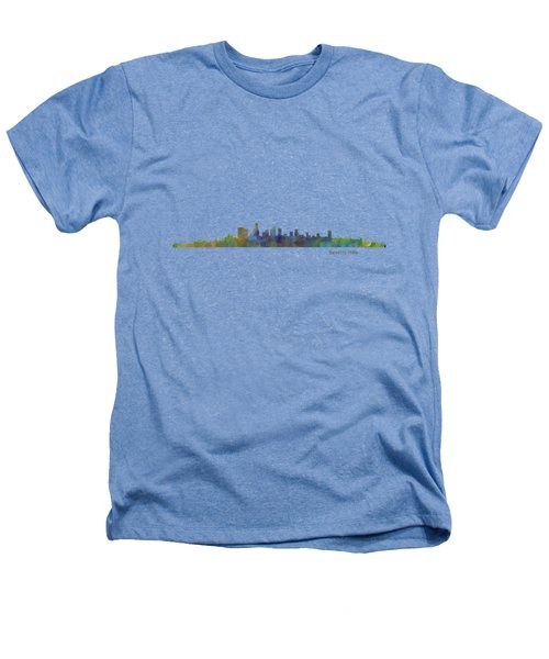 Beverly Hills City In La City Skyline Hq V1 Heathers T-Shirt by HQ Photo