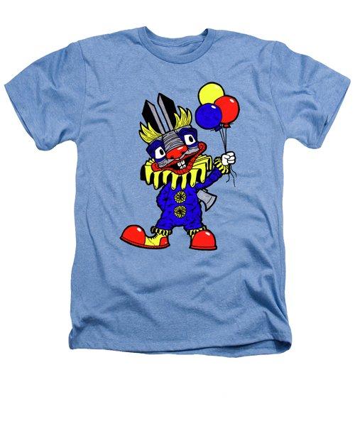 Binky The Bunny Clown Heathers T-Shirt by Bizarre Bunny