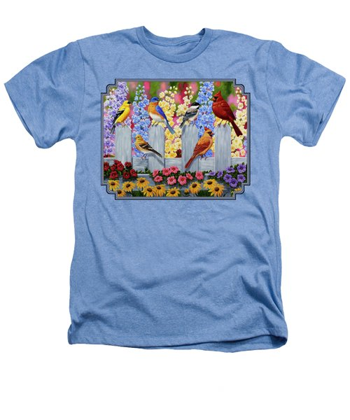 Bird Painting - Spring Garden Party Heathers T-Shirt by Crista Forest