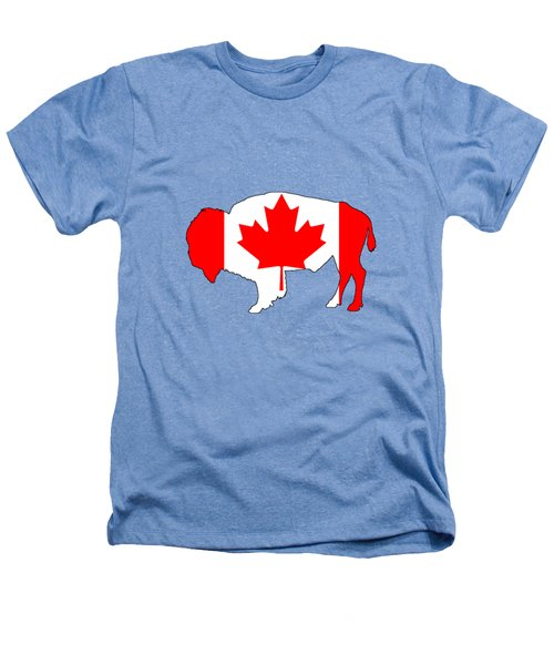 Bison Canada Heathers T-Shirt by Mordax Furittus