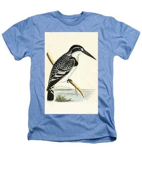 Black And White Kingfisher Heathers T-Shirt by English School