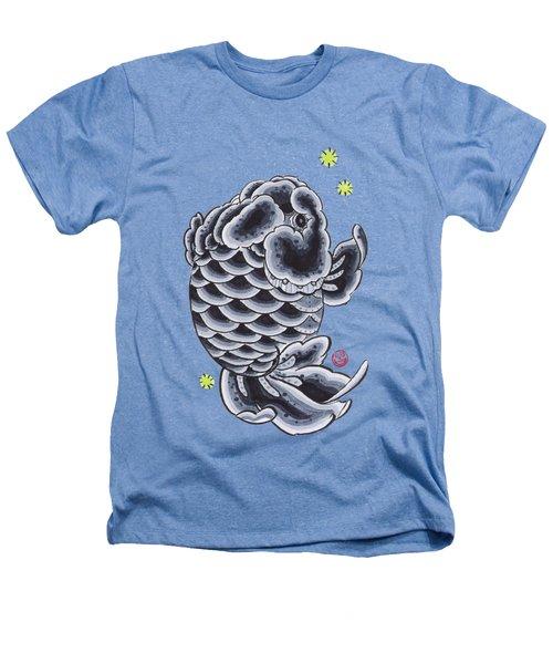 Black Ranchu Heathers T-Shirt by Shih Chang Yang