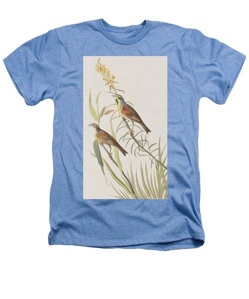 Black-throated Bunting Heathers T-Shirt by John James Audubon